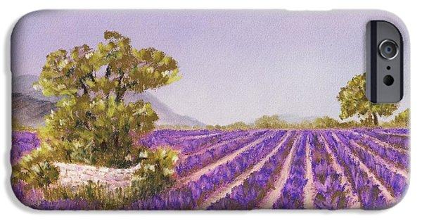 Rhone Alpes iPhone Cases - Drome Provence iPhone Case by Anastasiya Malakhova
