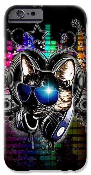 Swirl iPhone Cases - Drop The Bass iPhone Case by Nicklas Gustafsson