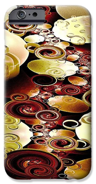 Anastasiya Mixed Media iPhone Cases - Drops and Ripples iPhone Case by Anastasiya Malakhova