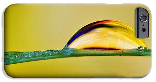 Refracted Light iPhone Cases - Drops of Abstract II iPhone Case by Gary Yost