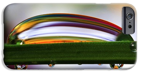 Refracted Light iPhone Cases - Drops of Abstract IV iPhone Case by Gary Yost