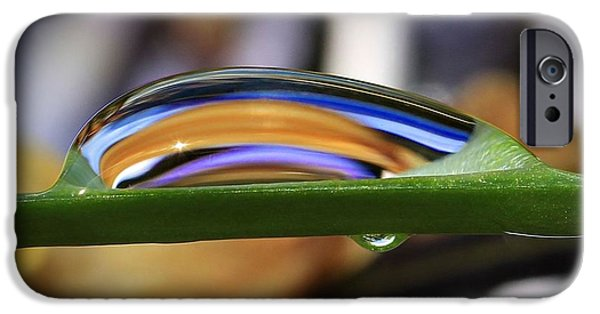Refracted Light iPhone Cases - Drops of Abstract V iPhone Case by Gary Yost