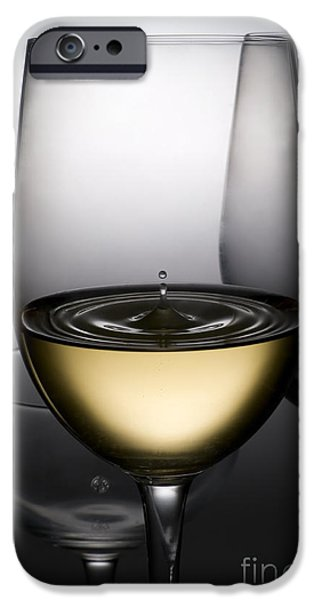 Goblet iPhone Cases - Drops Of Wine In Wine Glasses iPhone Case by Setsiri Silapasuwanchai