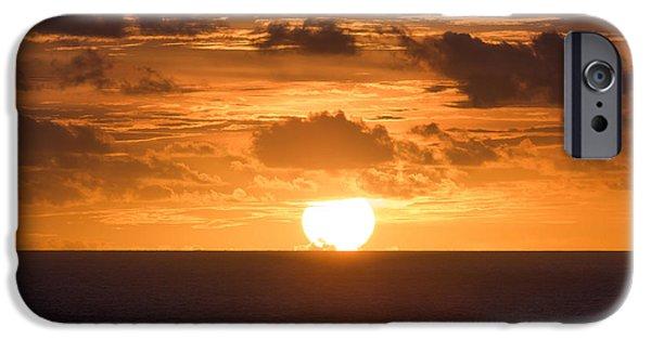 Ocean Photos iPhone Cases - Drowning Sun iPhone Case by Ocean Photos