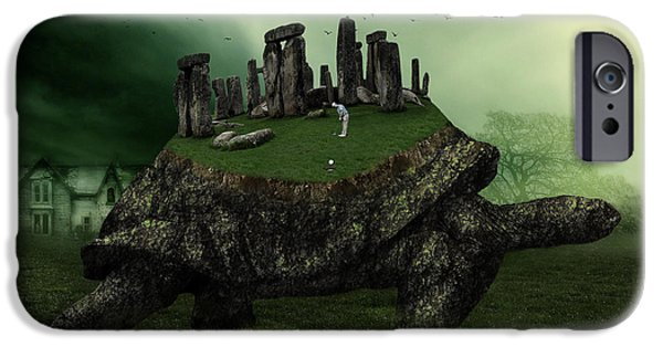 Strange iPhone Cases - Druid Golf iPhone Case by Marian Voicu