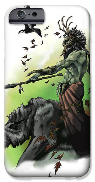 Briton iPhone Cases - Druid iPhone Case by Matt Kedzierski