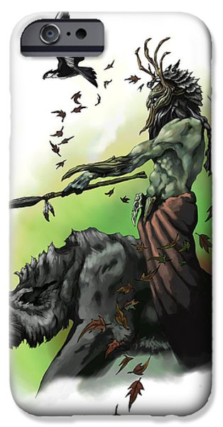 Dungeons iPhone Cases - Druid iPhone Case by Matt Kedzierski