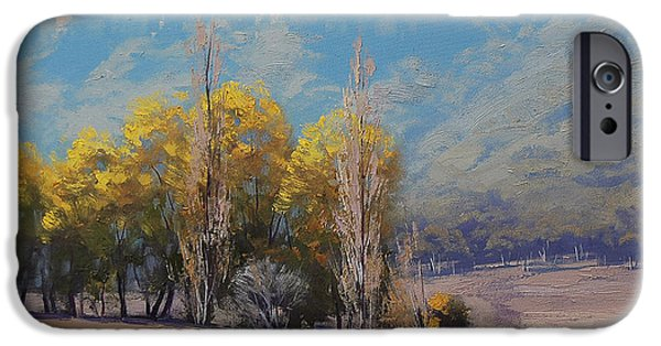 Shed Paintings iPhone Cases - Dry Autumn  iPhone Case by Graham Gercken
