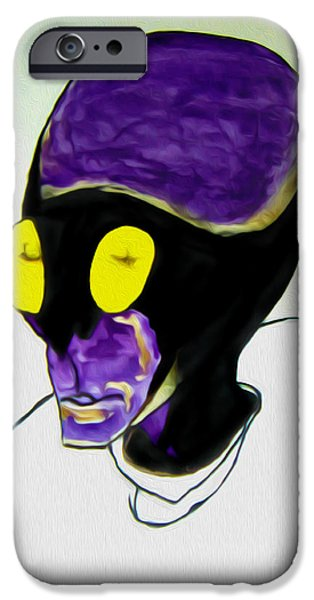 Creepy Drawings iPhone Cases - Dsc08089id iPhone Case by Bruce Stanfield
