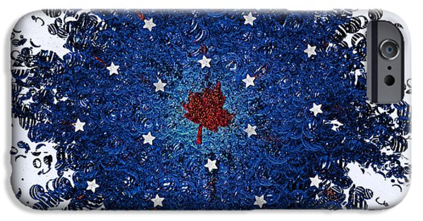 Fourth Of July Mixed Media iPhone Cases - Dual Citizenship 1 iPhone Case by First Star Art