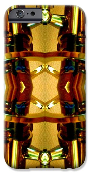 Socal Mixed Media iPhone Cases - Dual Pipe iPhone Case by Romy Galicia