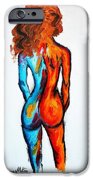 Women Together iPhone Cases - Duality iPhone Case by Ramona Matei