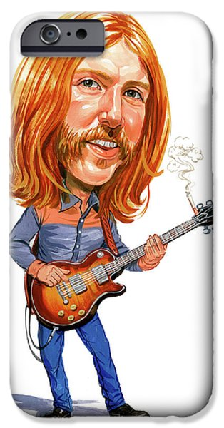 Art iPhone Cases - Duane Allman iPhone Case by Art