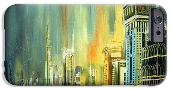 Corporate Art iPhone Cases - Dubai Downtown Skyline iPhone Case by Corporate Art Task Force