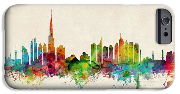 Recently Sold -  - United iPhone Cases - Dubai Skyline iPhone Case by Michael Tompsett