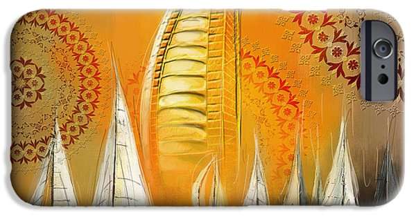 Culture Paintings iPhone Cases - Dubai Symbolism iPhone Case by Corporate Art Task Force