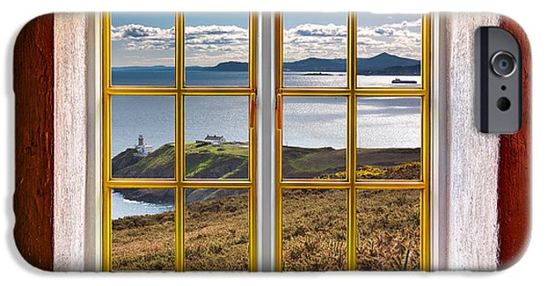 Cabin Window iPhone Cases - Dubin Bay View iPhone Case by Semmick Photo