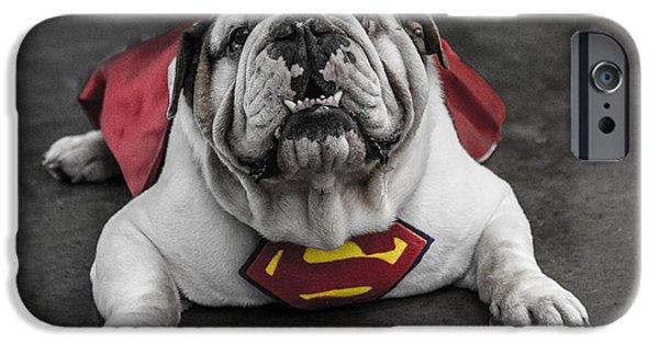 Con iPhone Cases - Dublin Comic Con Super Dog Mascot  iPhone Case by David Doyle