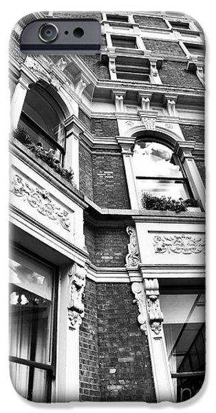 Monotone iPhone Cases - Dublin Hotel Design iPhone Case by John Rizzuto