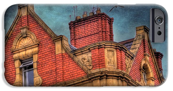 Chimney iPhone Cases - Dublin House Roof Top iPhone Case by Juli Scalzi