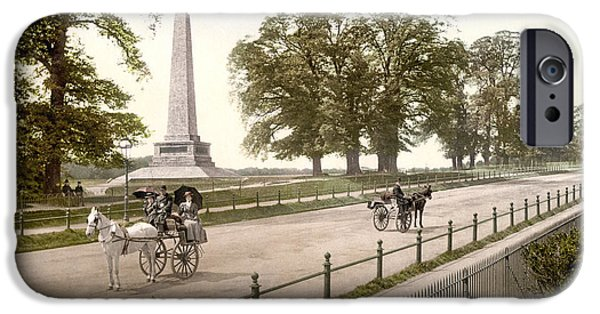 Horse And Buggy iPhone Cases - DUBLIN: PHOENIX PARK, c1895 iPhone Case by Granger