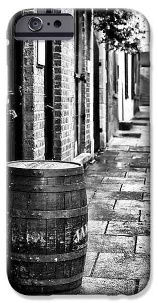 Monotone iPhone Cases - Dublin Street iPhone Case by John Rizzuto