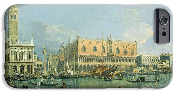 Venetian Canals iPhone Cases - Ducal Palace   Venice iPhone Case by Canaletto