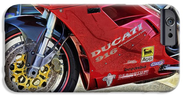 Asphalt iPhone Cases - Ducati iPhone Case by Cheryl Young