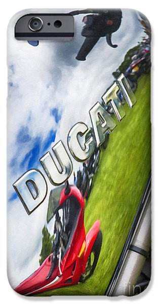 Abstract Digital Photographs iPhone Cases - Ducati Chrome iPhone Case by Tim Gainey