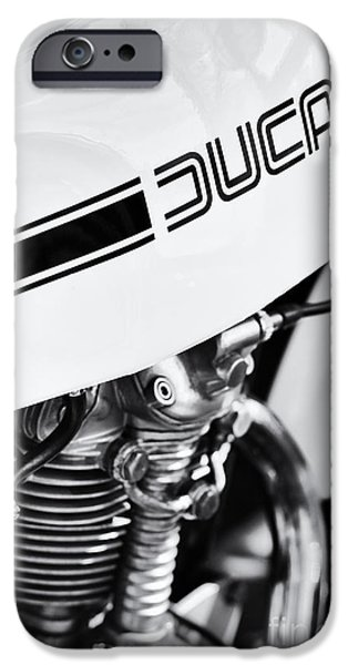 Monochrome iPhone Cases - Ducati Desmo Motorcycle iPhone Case by Tim Gainey