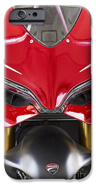 Circuit iPhone Cases - Ducati-Unplugged V11 iPhone Case by Douglas Barnard