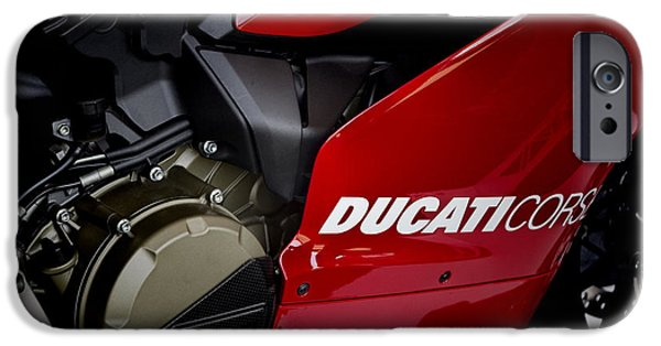 Circuit iPhone Cases - Ducati-Unplugged V9 iPhone Case by Douglas Barnard