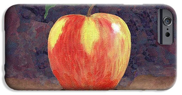 Duchess Paintings iPhone Cases - Duchess Apple Two iPhone Case by Linda Mears