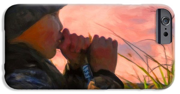 Cold Paintings iPhone Cases - Duck Call iPhone Case by Michael Pickett