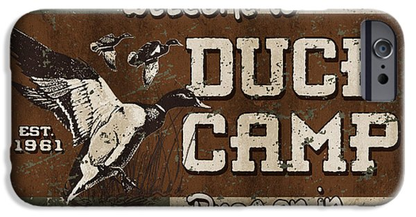 Miller iPhone Cases - Duck camp iPhone Case by JQ Licensing