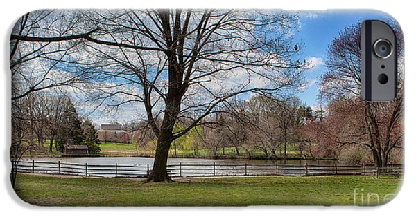 Haverford College iPhone Cases - Duck Pond Haverford College iPhone Case by Kay Pickens