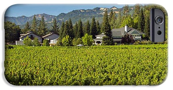 Red Wine iPhone Cases - Duckhorn Vineyard iPhone Case by Jon Neidert