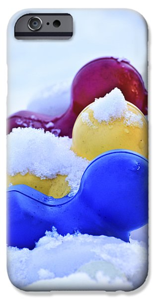 Drifting Snow Photographs iPhone Cases - Ducks in a Row iPhone Case by Christi Kraft