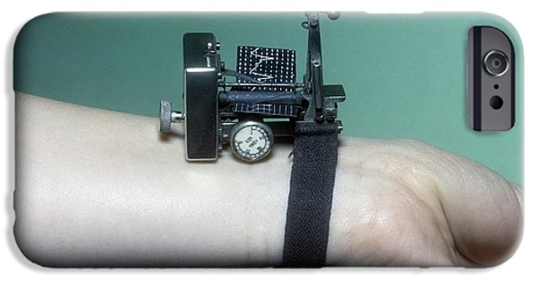 Nineteenth iPhone Cases - Dudgeon Sphygmograph, Circa 1880s iPhone Case by Science Photo Library
