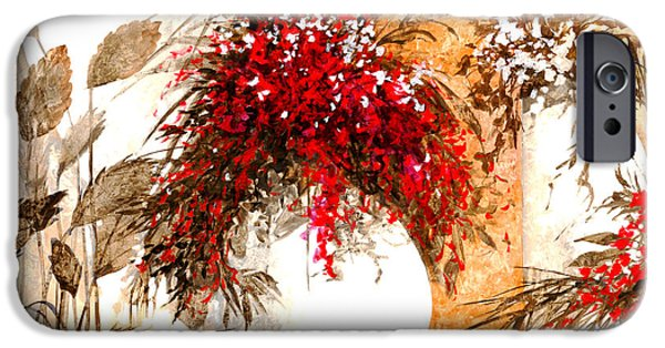 Composition iPhone Cases - Due Bianca iPhone Case by Guido Borelli