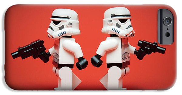 Recently Sold -  - Storm iPhone Cases - Dueling Troopers iPhone Case by Samuel Whitton