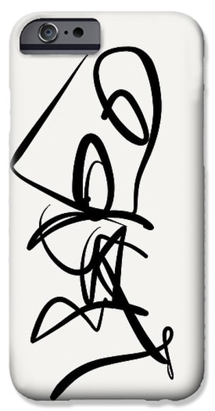 Gestures Drawings iPhone Cases - Duet iPhone Case by Kevin Houchin