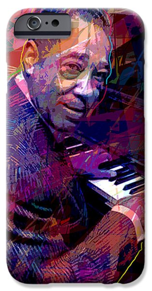 Piano iPhone Cases - Duke Ellington At The Piano iPhone Case by David Lloyd Glover
