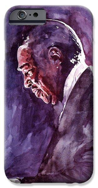 Famous Faces iPhone Cases - Duke Ellington Mood Indigo Sounds iPhone Case by David Lloyd Glover