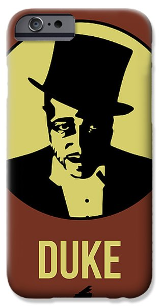 Icon Mixed Media iPhone Cases - Duke Poster 1 iPhone Case by Naxart Studio