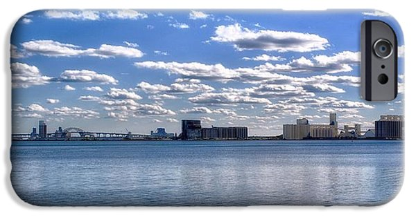 Minnesota Twins Mixed Media iPhone Cases - Duluth Harbor  iPhone Case by Todd and candice Dailey