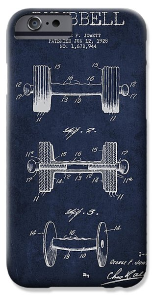Technical iPhone Cases - Dumbbell Patent Drawing from 1927 iPhone Case by Aged Pixel