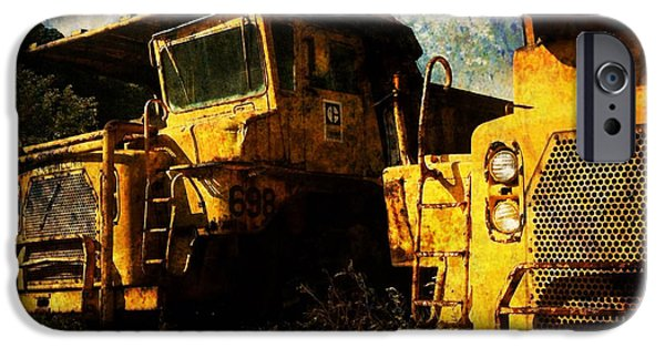 Construction Equipment iPhone Cases - Dump Trucks iPhone Case by Amy Cicconi