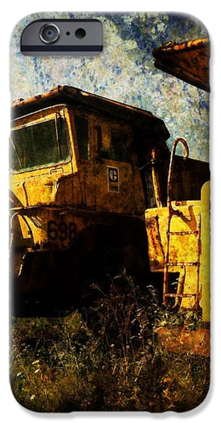 Dump Trucks iPhone Case by Amy Cicconi