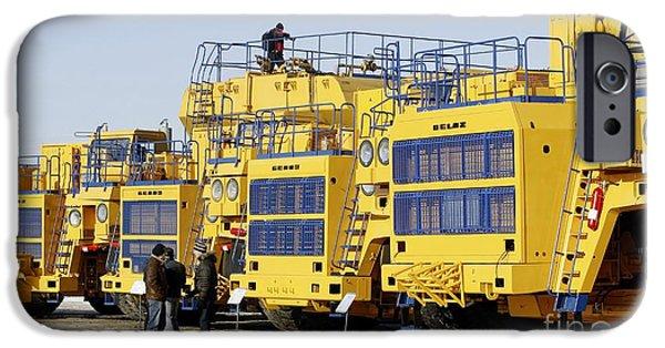 Automotive iPhone Cases - Dump Trucks iPhone Case by Ria Novosti